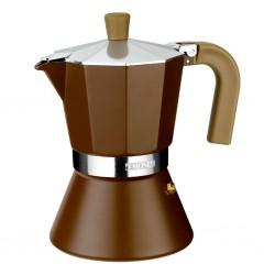 Cafetera Aluminio Monix Cream 6 Tazas