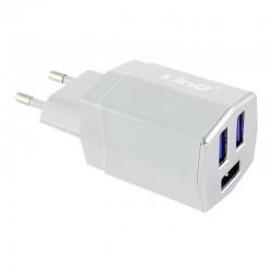 Cargador Red 3 Puertos USB Universal - Blanco