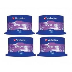 4 Tarrinas de 50 DVD+R Verbatim 4,7GB X 16