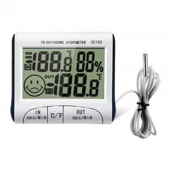 Higrómetro Digital LCD con Sonda