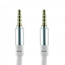 Cable Jack 3.5mm Macho-Macho Plano Blanco - 1.2m