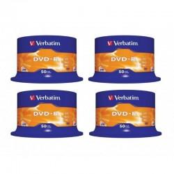 4 Tarrinas de 50 DVD-R Verbatim 4,7GB X 16
