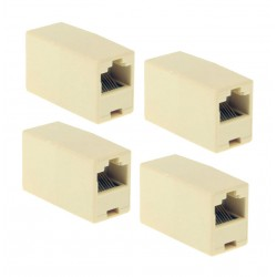 4x Adaptadores cable RJ45 Hembra