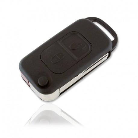 Carcasa Llave 2 Botones Mercedes Cuadrad