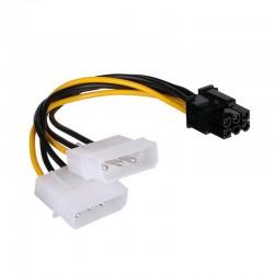 Cable Tarjeta PCI Express a 2X MOLEX LP4