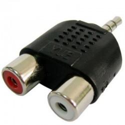 Adaptador Jack 3.5mm Macho a 2 RCA Hembra