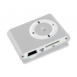 Mini Reproductor Mp3 con Clip - Plateado