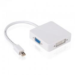 Cable 3 en 1 mini DP A HDMI VGA DVI