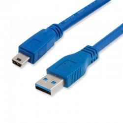 Cable Mini USB 3.0 A USB Macho 1m Azul
