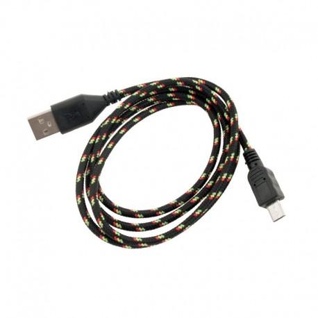 CABLE MICRO USB NYLON NEGRO 1 METRO