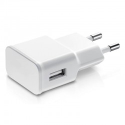 Adaptador de red 1 usb de 2A blanco