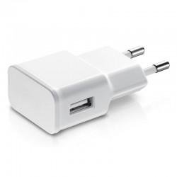 Adaptador de red 1 usb de 2A blanco