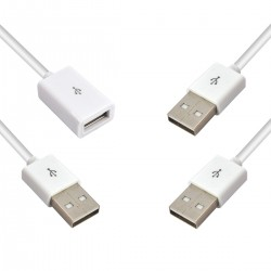 Cable Usb 2.0 Macho Macho Blanco 1M
