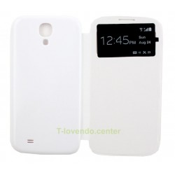 Funda Flip Cover Galaxy S4 I9500 Blanca