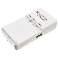 Cargador de Baterías Universal Red con Puerto USB