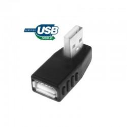 Adaptador USB Macho a USB Hembra OTG a 90º