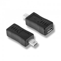 Adaptador Micro USB Hembra a Mini USB Macho