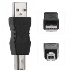 Adaptador de USB-A Macho a USB-B Impresora