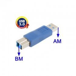 Adaptador USB 3.0 Macho A - Macho B