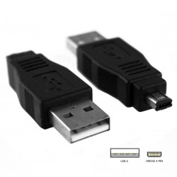 Adaptador de USB 2.0 a Mini-B Hirose 4 Pin