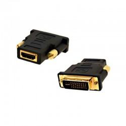 Adaptador HDMI Hembra a DVI 24+5 Macho