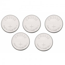 Pack de 5 Pilas de Botón CR-2032