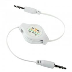 Cable retráctil para auriculares blanco