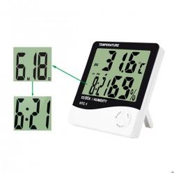 Higrómetro Termómetro Reloj Digital