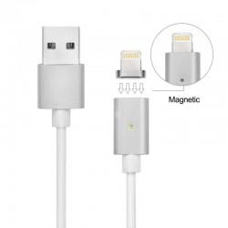 Cable Magnético Plateado para iPhone 5 / 6 / 7