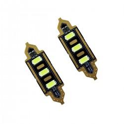 2x Bombillas para Matrícula Coche 3 LED Canbus