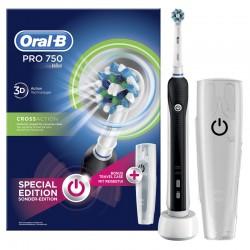 Cepillo de Dientes Eléctrico Recargable Oral-B PRO 750 CrossAction