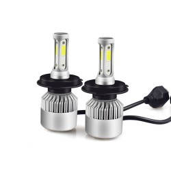 2x Bombillas H4 LED 72W 6000K - Blanco