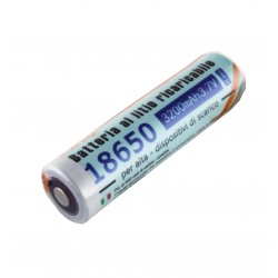 1x Pila de Litio Recargable 18650 - 3200mAh