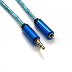 Cable Audio Jack 3.5mm Macho - Hembra - 1m