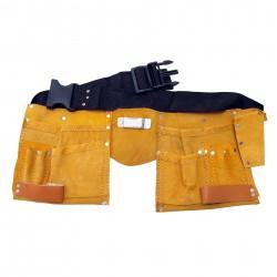 Cinturón Bolsa Porta Herramientas de Cuero