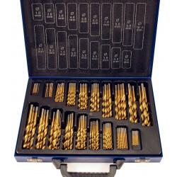 Maletín de 170 Brocas HSS de Titanio de 1 - 10mm