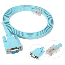 Cable Rs232 Db9 Serie A Rj45 Azul Plano