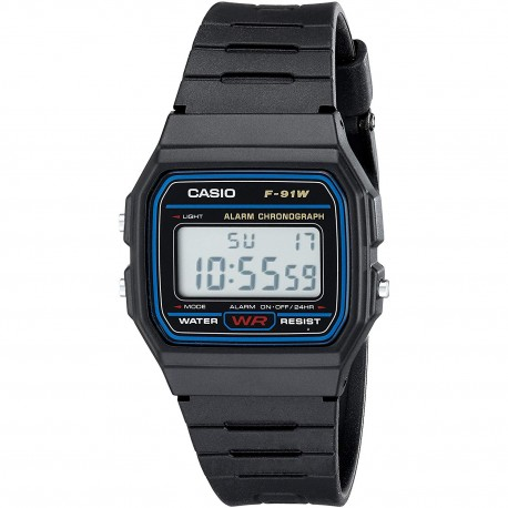 Reloj Digital Casio F-91W - Negro