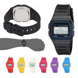RELOJ RETRO DIGITAL UNISEX - NEGRO