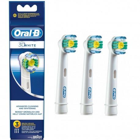 3 x Recambios Original Braun Oral-B 3D White