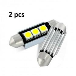 2 Bombillas LED 3SMD C5W para Coche