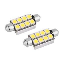 2 Bombillas LED 8SMD C5W para Coche
