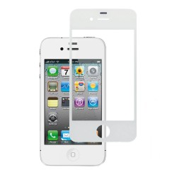 Cristal Pantalla Iphone 4 4S Blanco