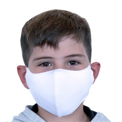 Mascarilla Proteccion Facial Lavable Reutilizable para Niños - Blanca