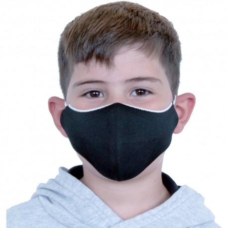 Mascarilla Proteccion Facial Lavable Reutilizable para Niños - Negra