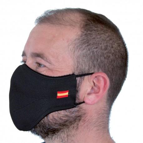 Mascarilla Proteccion Facial Lavable Reutilizable - Negra España