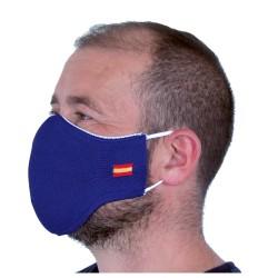 Mascarilla Proteccion Facial Lavable Reutilizable - Azul España