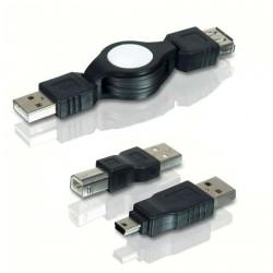 Cable Retráctil + 2 Adaptadores PD00012