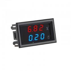 Voltímetro Digital 10A LED DC 0-100V