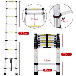 Escalera Telescópica de Aluminio Extensible